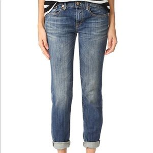 R13 Relaxed Skinny Faded Blue Jeans Size 28